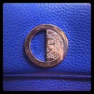 Beautiful Versace collection Navy portfolio wallet